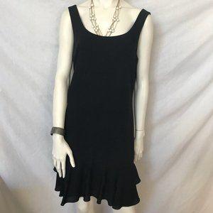 Barneys Black Cocktail Dress Donna Ricco NY 10 NWT